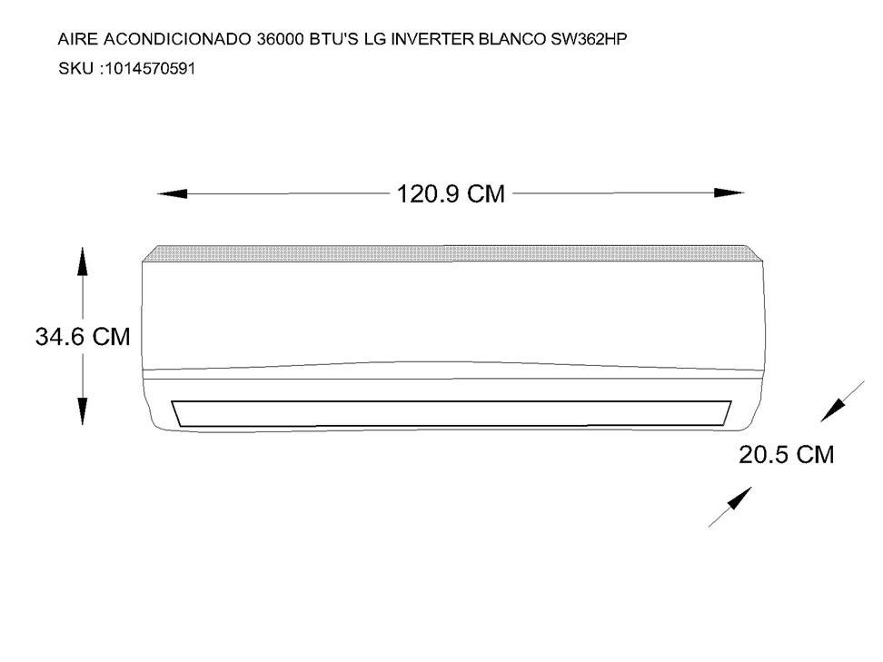 Medidas De Minisplit Airea Condicionado