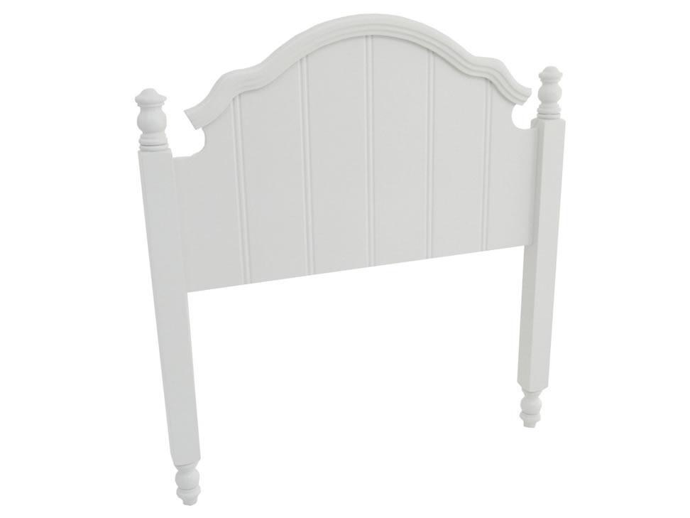 Carol cabecera para cama individual cl sica blanca for Cabecera individual infantil