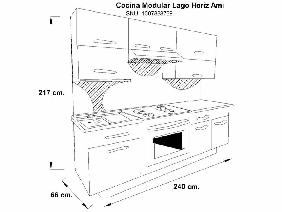Lujoso Dimensiones Estándar Gama De Cocina Fotos   Ideas Del .